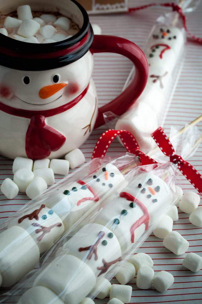 marshmallow snowmen baggie