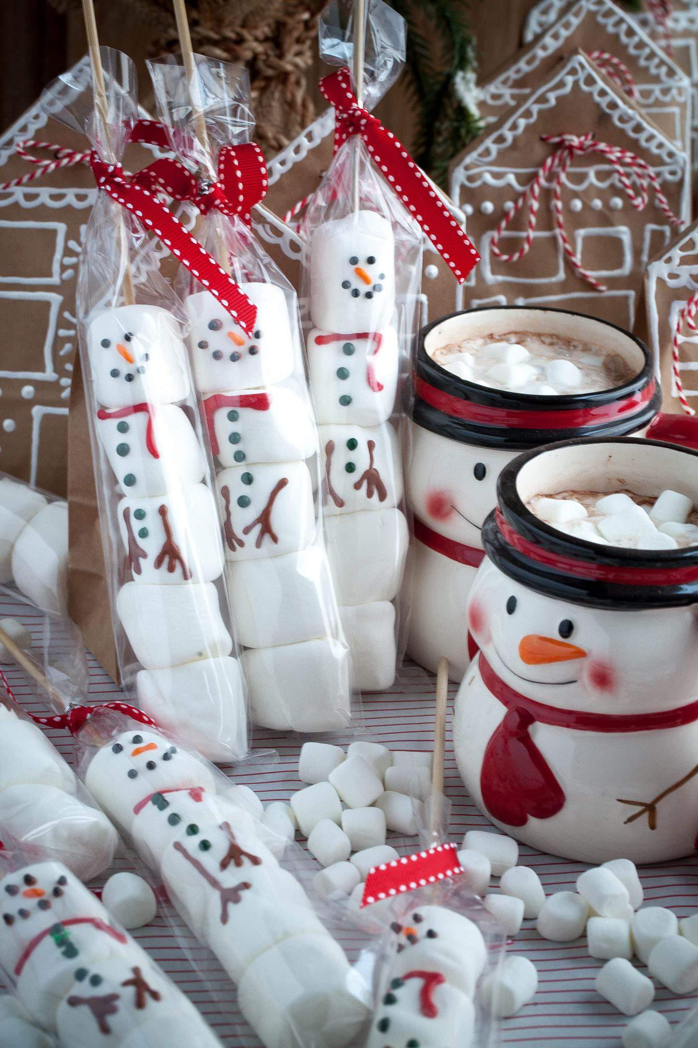 marshmallow snowman sticks