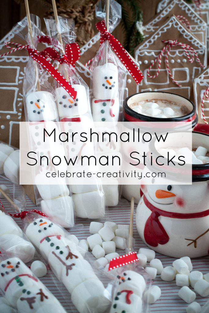 marshmallow snowman graphic
