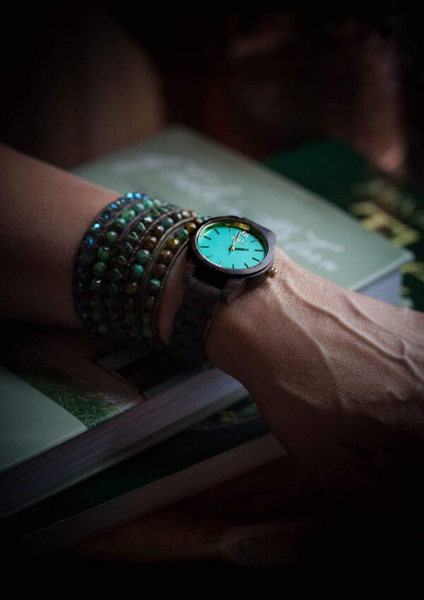 beaded bracelet and watch