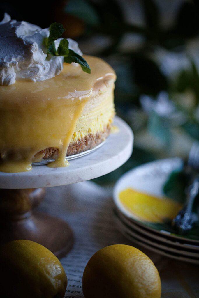 cheesecake and lemons