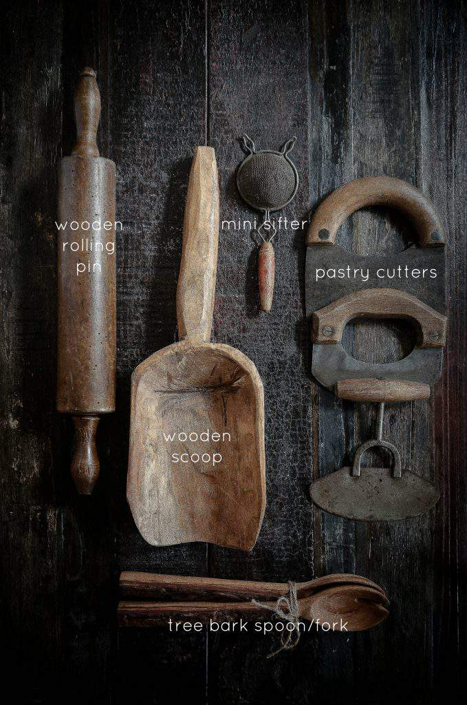 rustic tools and utensils
