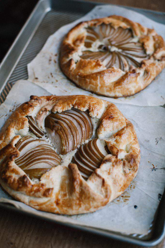 baked pear galettes
