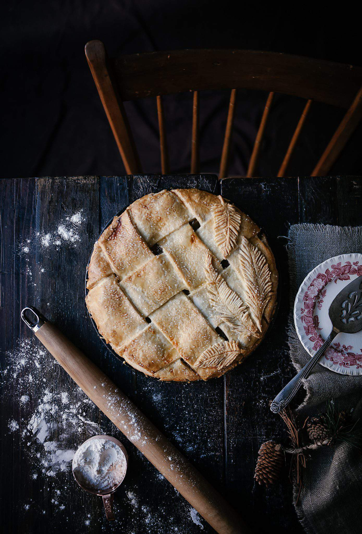apple pie with feathers