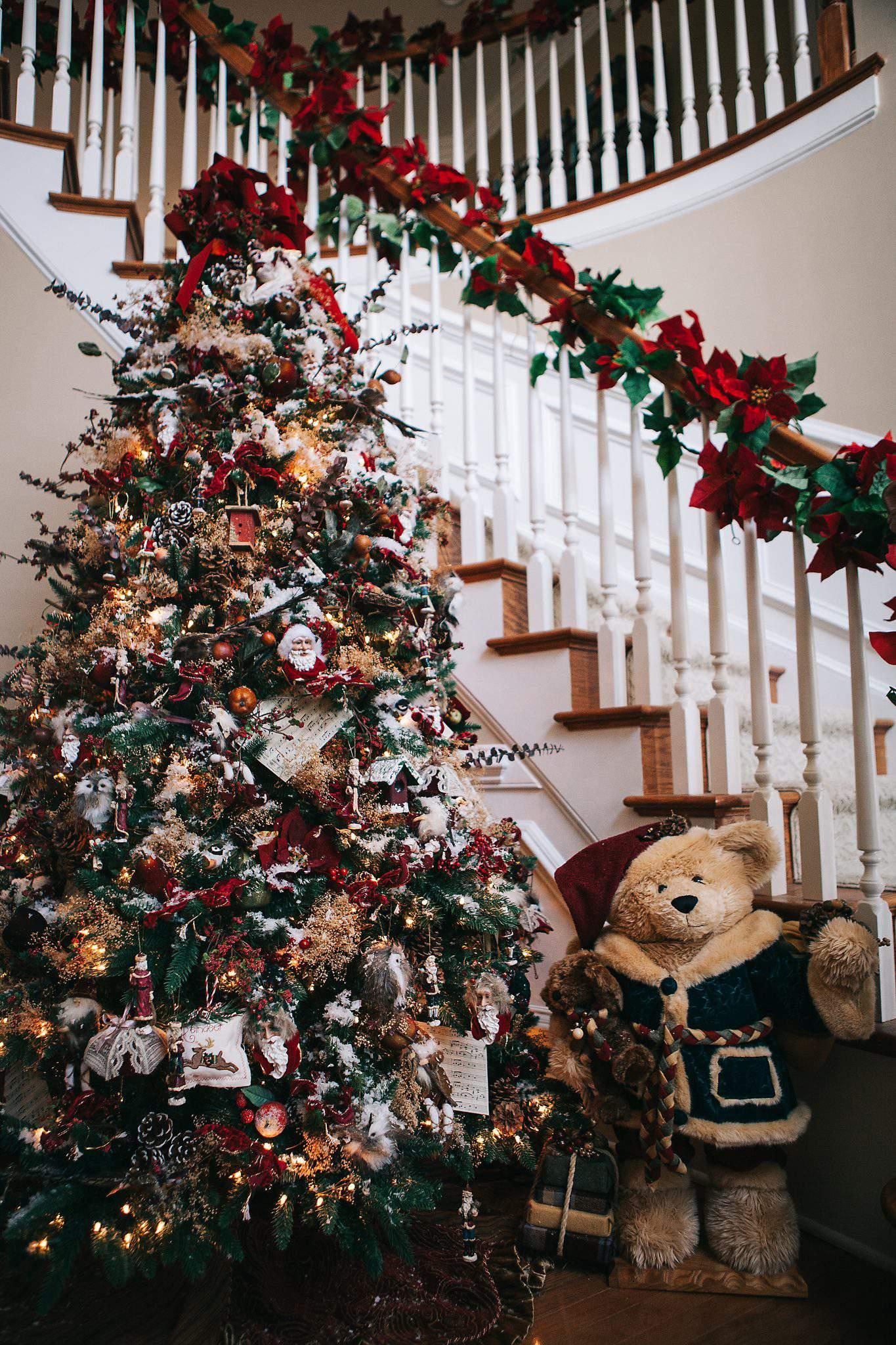 Christmas tree foyer
