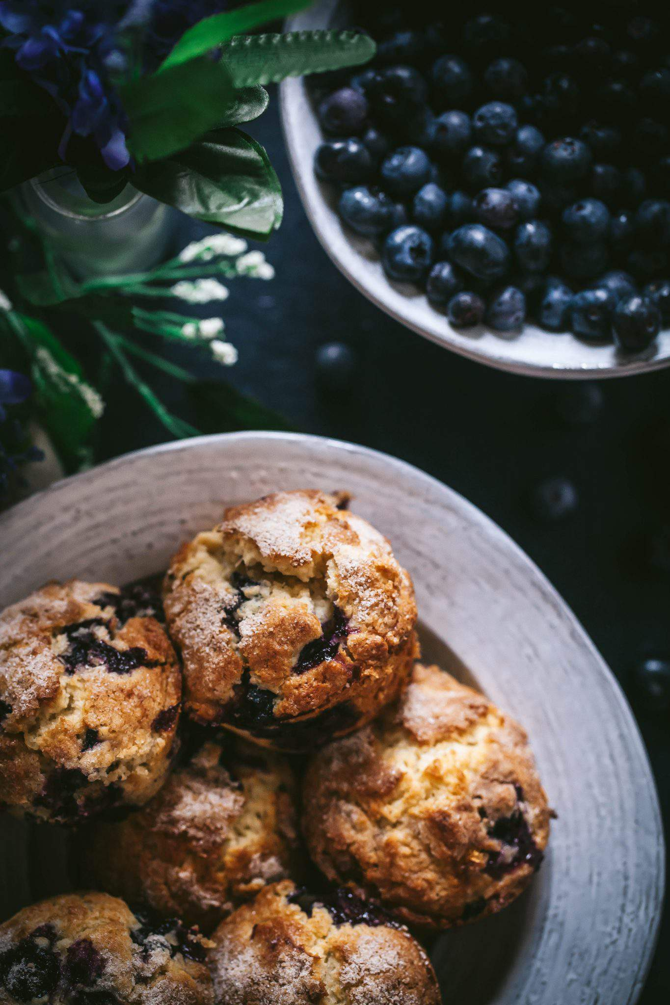 muffins blueberries