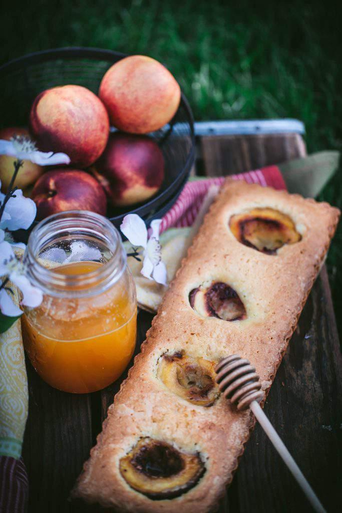 nectarine tart setting