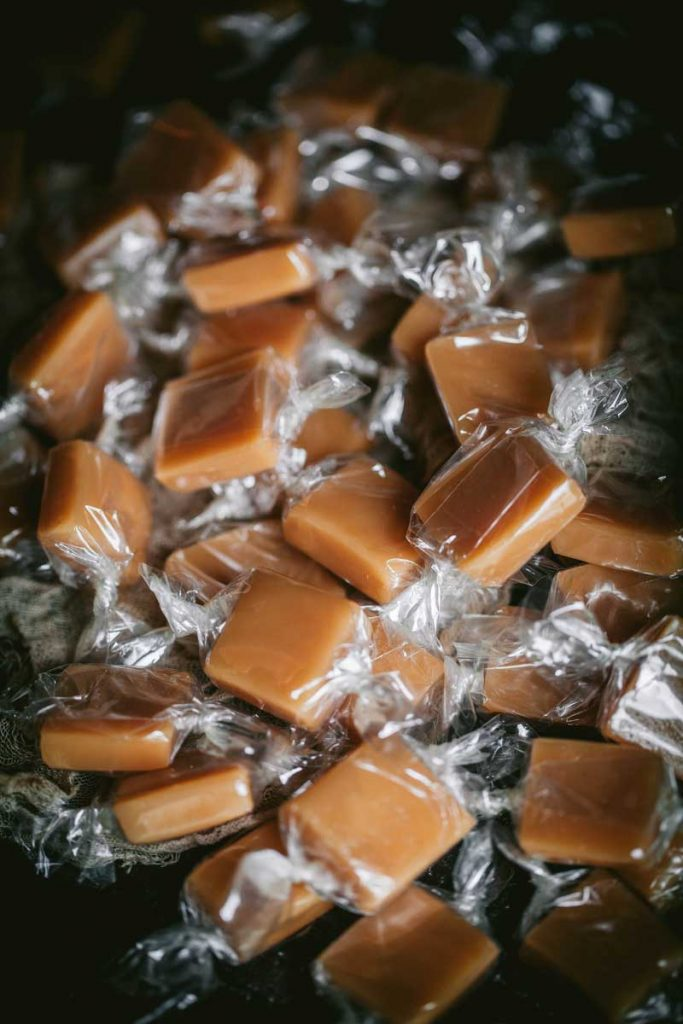 caramel candy wrapped