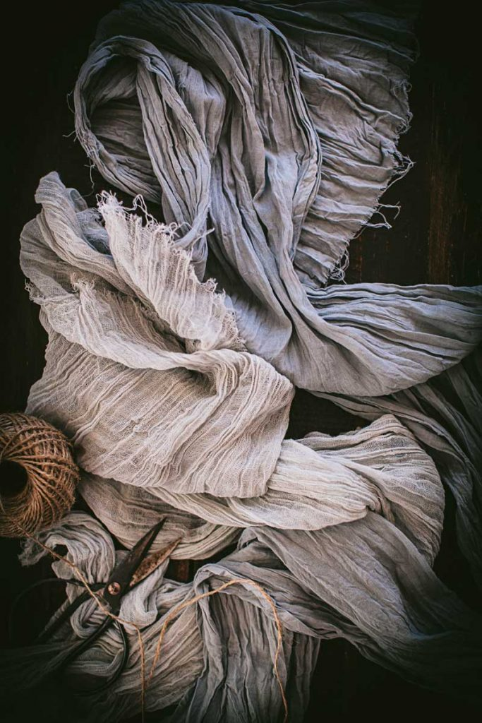 gray fabric dyed