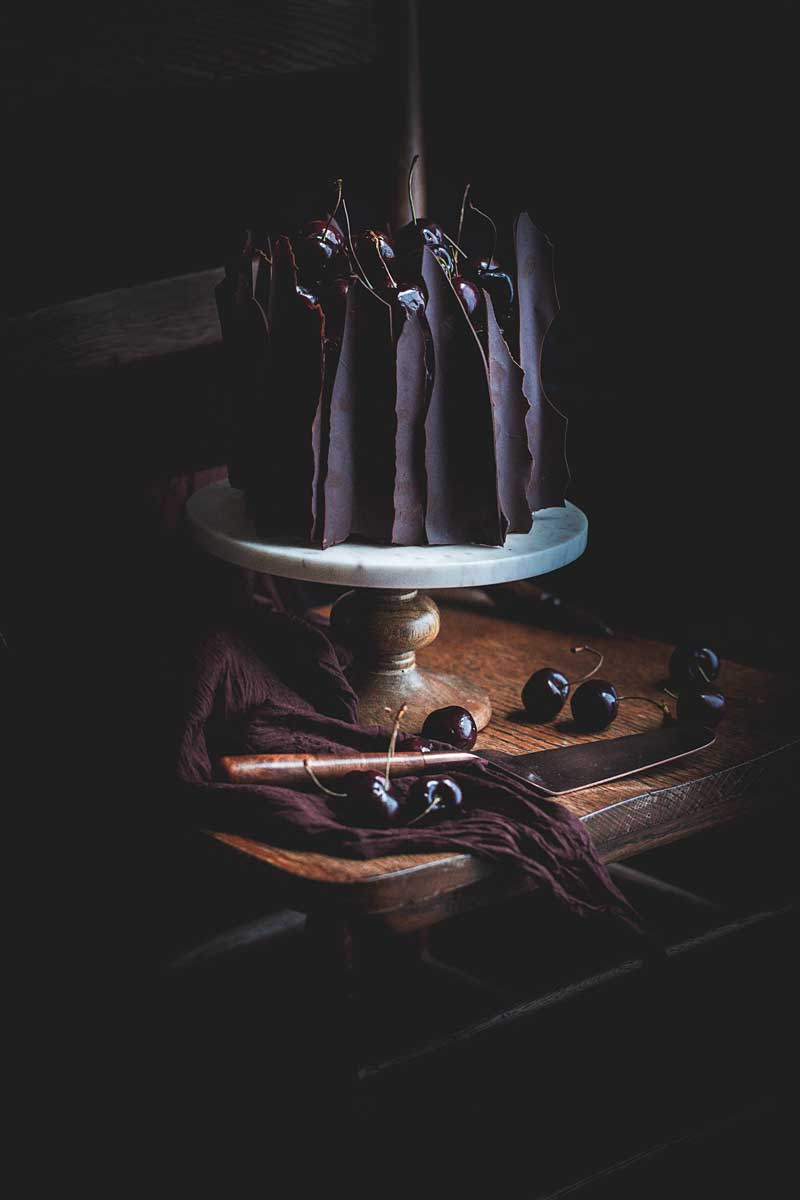 dark and moody cake