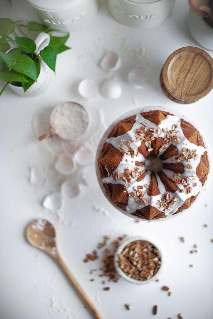 overhead bundt cake