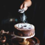 pear cake sugar sift