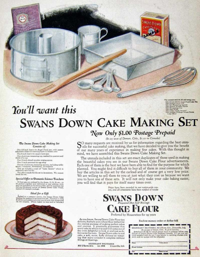 Swans Down vintage recipe