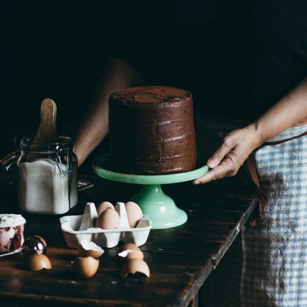 Chocolate Cake and Linen Aprons